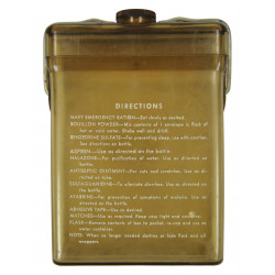 Flask, Emergency Sustenance Kit, Medical, Type E-17, USAAF