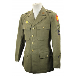 Coat, Wool, Serge, OD, 75th Infantry Division