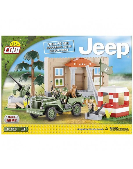 Lego Jeep Willys MB barracks with checkpoint