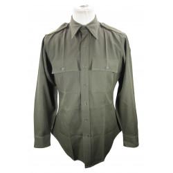 Shirt, Wool elastique, Drab, Officer's, Chocolate
