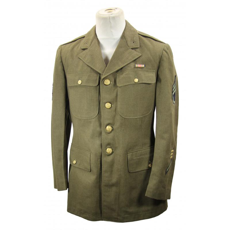 Coat, Wool, Serge, OD, Staff Sergeant, 42R
