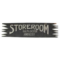 Sign, Wood, US Navy, STOREROOM