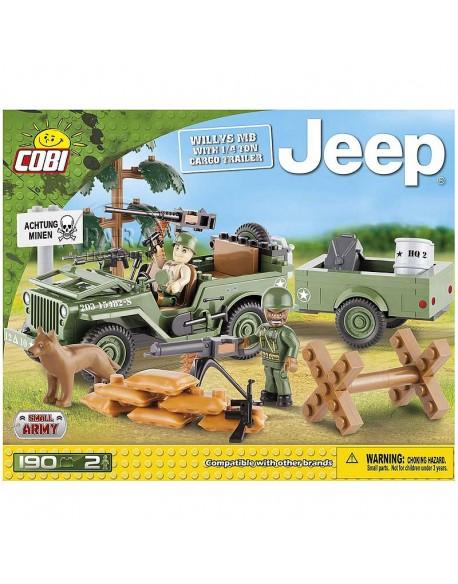 Lego Jeep Willys avec remorque