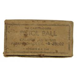 Box, cartridges, .45 cal., for Pistol M1911