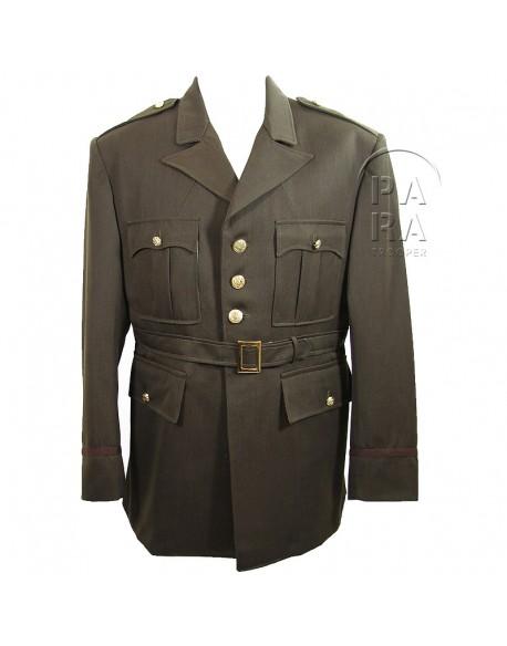 Coat, service officer, OD