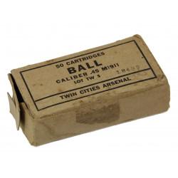 Box, cartridges, .45 cal., for Pistol M1911, 1944