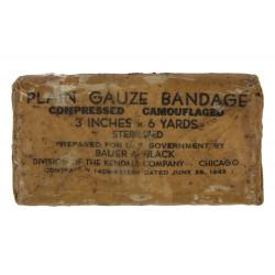 Bandage, Gauze, Compressed, Camouflaged, 1943