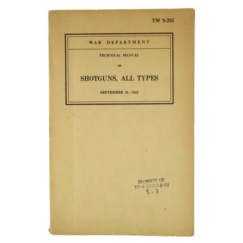 Manual, Technical, TM 9-285, Shotguns, 1942