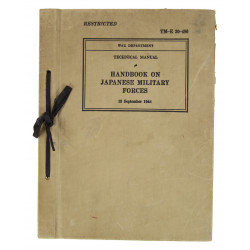 Manuel technique TM-E 30-480, Handbook on Japanese Military Forces, 1944