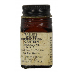 Bottle, Tablets, Halazone, Dr. Peter Fahrney & Sons Co.