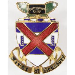 Crest, 13th Inf. Rgt., 8th Infantry Division, à écrou