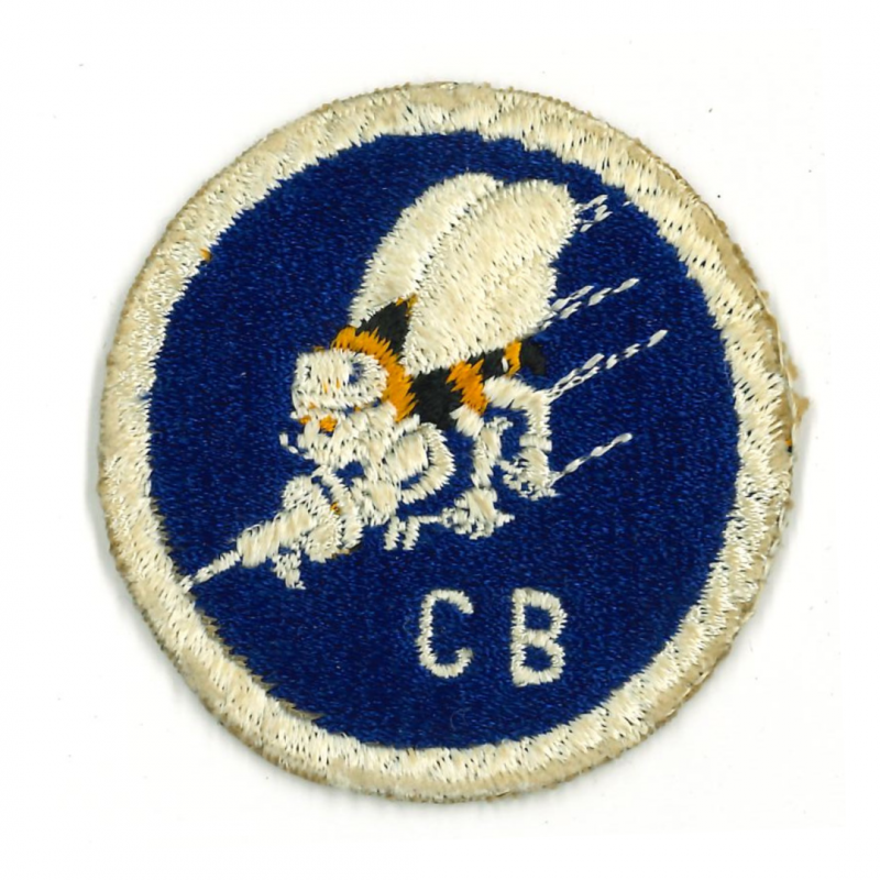Patch, Seabees, C.B., US Navy, 1st type