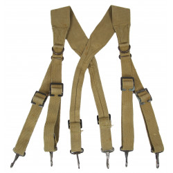 Suspenders, Belt, M-1936, British Made, 1944