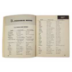 Booklet, French Phrase Book, 1943