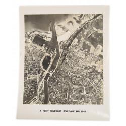 Photo aérienne de reconnaissance, Boulogne, 1944
