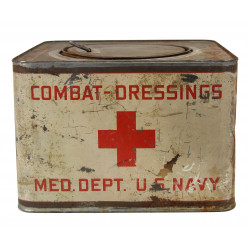 Box, Metal, Combat-dressing Med. Dept. U.S. Navy