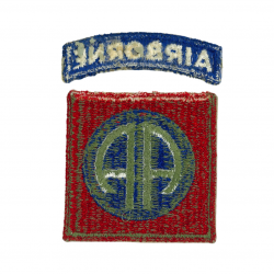 Patch, 82nd Airborne Division, green back, 1943