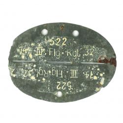 Plaque d'identité, Flg. Rgt. 32 / FJR 6, Normandie