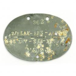 Plaque d'identité, Flak-Ers-Abt 24 / FJR 6, Normandie