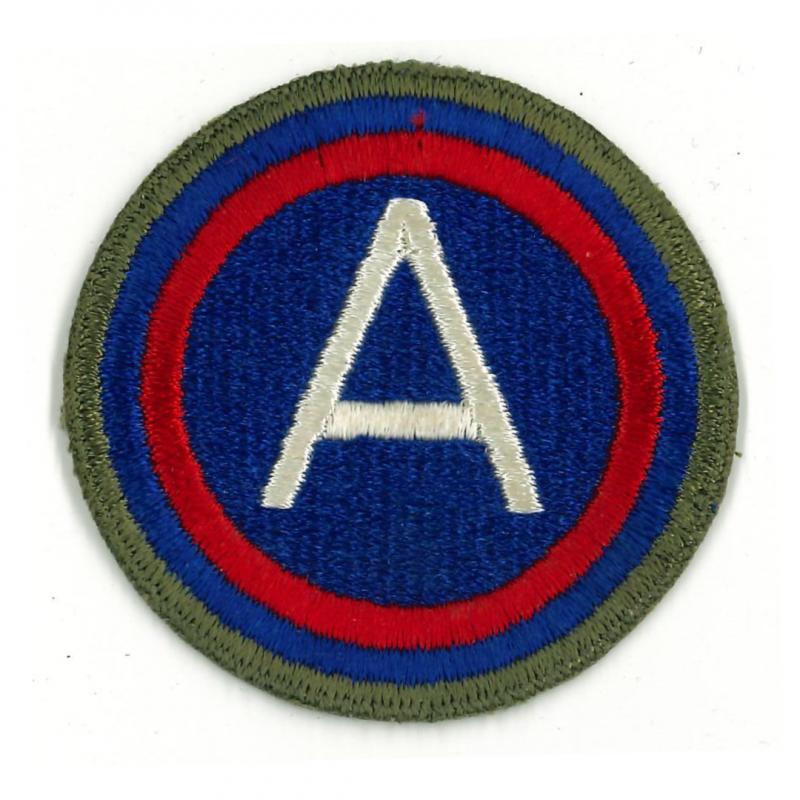 Insigne, 3rd Army (Général Patton), bord vert, dos vert, 1943