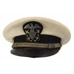 Cap, Officer, USN, White, Named