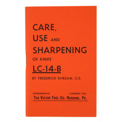 Livret, CARE, USE and SHARPENING of knife LC-14-B (Woodman PAL), 1942