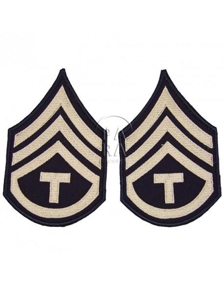 Grades en tissu de Sergent T/3