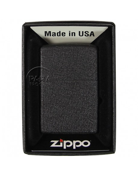 Briquet US, fabrication Zippo 1943, Black Crackle Finish