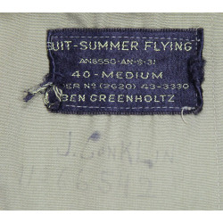 Suit, Summer, Flying, AN-S-31, 1943