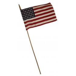 Flag, USA, 48 stars, on stick
