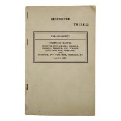 Manuel Technique, TM 11-1122, DETECTOR SETS SCR-625, 1943