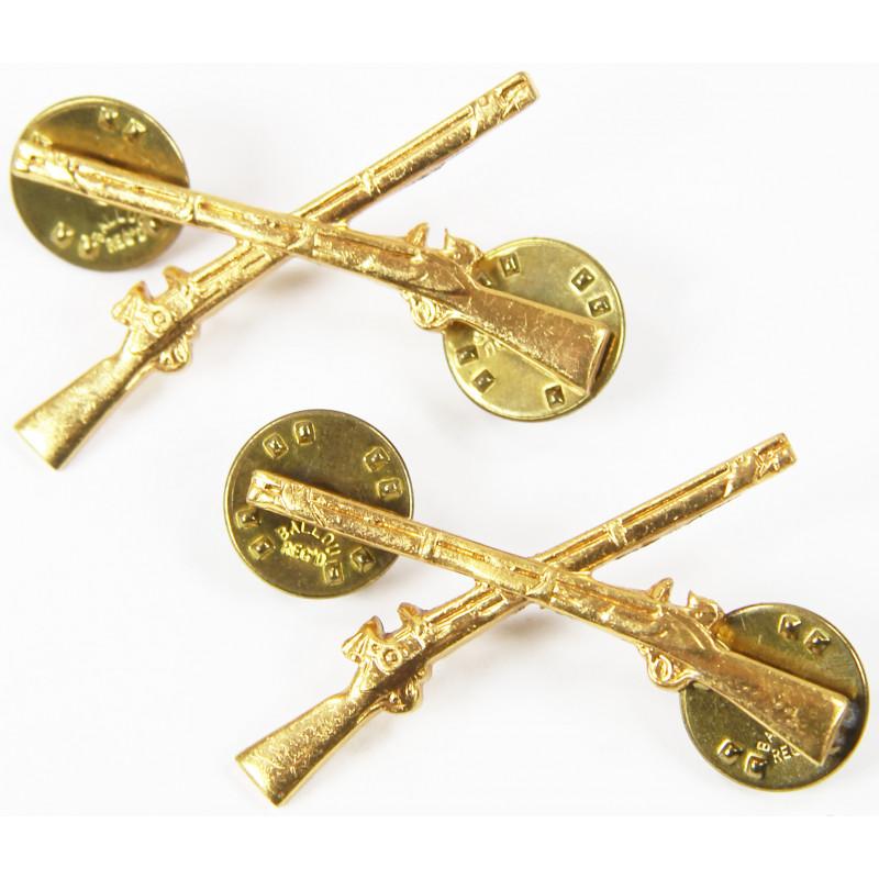 Insignias, Collar, Pair, Infantry