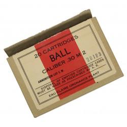 Box, cartridges, .30 cal. M2, Eau Claire Ord. Plant