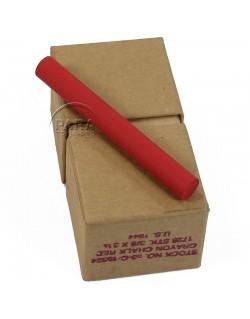 Crayon, Chalk red, Box, 1944