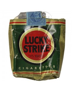 Pack of cigarettes, Lucky Strike, Green