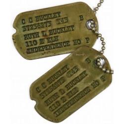 Plaques d'identité, Dog Tags, Clarence C. Buckley, Officier, 42-44