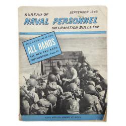Magazine, Bureau of Naval Personnel Information Bulletin, septembre 1943