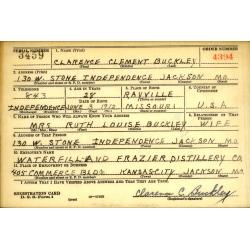 Plaques d'identité, Dog Tags, Clarence Buckley, 1942-1944