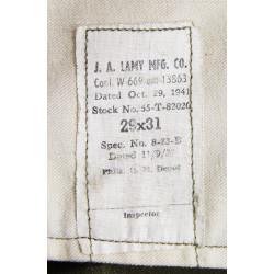 Trousers, Wool, Serge, OD, size 29 x 31, 1941
