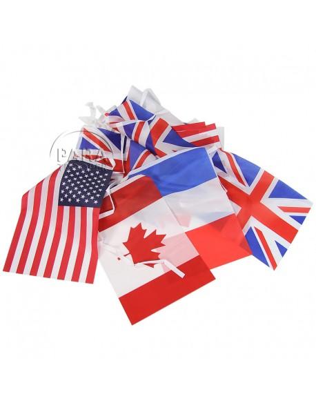 Guirlande de drapeaux alliés
