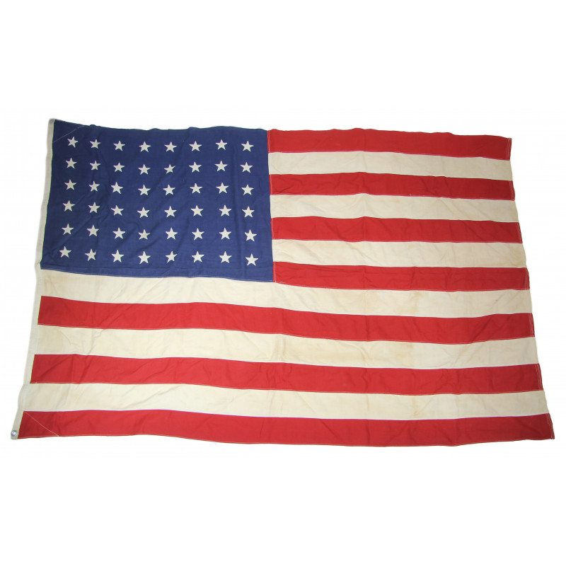 Flag, US Navy, 48 stars, cotton