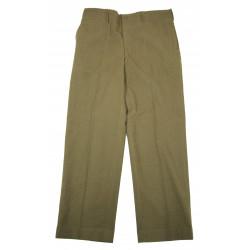 Trousers, Wool, Serge, OD, M-1937, size 40 x 33, 1943
