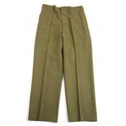 Trousers, Wool, Serge, OD, size 32