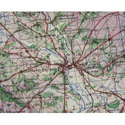 Map, War Office, Neufchatel - Rouen, 1944