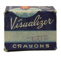 Crayons, Blue Visualizer Map with box