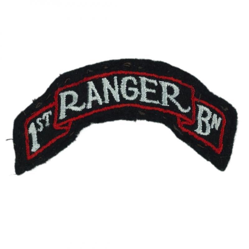 Tab, Shoulder, 1st Ranger Battalion, MTO