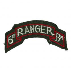 Tab, Shoulder, 6th Ranger Battalion, PTO