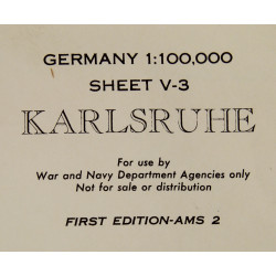 Map, War Office, Karlsruhe (Germany), 1944