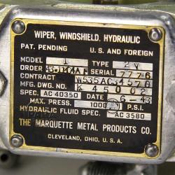 Wiper, Windshield, Hydraulic, DC-3 / C-47, 1943