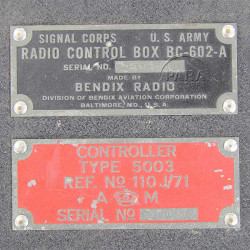 Box, Control, Radio, BC-646-A, Signal Corps US Army, 1942, C-47